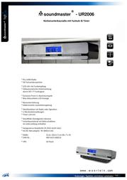 Soundmaster UR 145 UR-145 Data Sheet