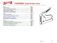 Arrow t50pbn brad nailer User Guide