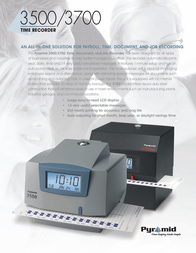 Pyramid Time Systems 3500 Leaflet