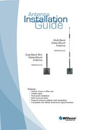 Wilson Electronics Glass Mount Antennas 301102 User Manual