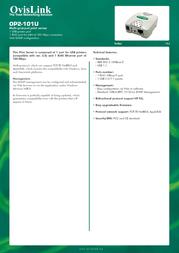 OvisLink OP2-101U Leaflet