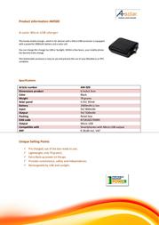 Xtorm AM500 Leaflet