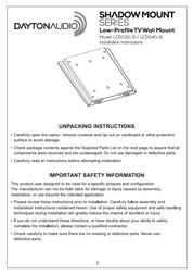 Dayton Audio LCD1130-SI User Manual