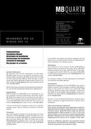 MB Quart RTE 20 Справочник Пользователя
