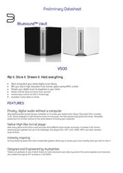 Bluesound Vault V500W Data Sheet