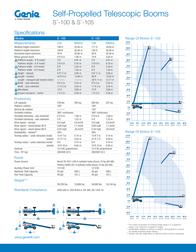 Genie S-105 Specification Sheet