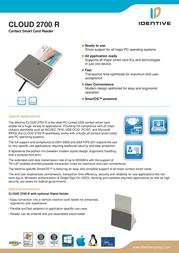 CHIPDRIVE MICRO PRO C USB CLOUD 2700F Data Sheet