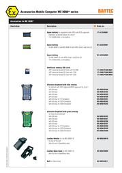 Bartec Replacement Battery B7-A2Z0-0001 Leaflet