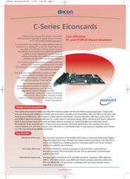 Dialogic Eiconcard C31-S/T (WAN + ISDN) 310-116 Leaflet