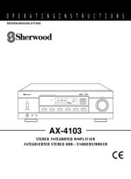 Sherwood Stereo Amplifier AX-4103 User Manual