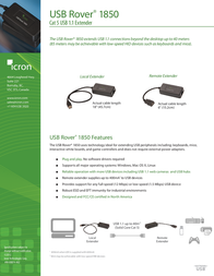 Icron USB Rover 1850 00-00301 Leaflet