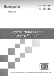 Sungale AD1020 User Manual