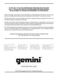 Gemini CDJ-700 Data Sheet