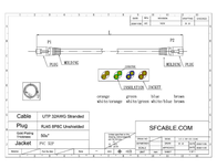 SF Cable Cat6, 13.7m CAT6-FW-45 Leaflet