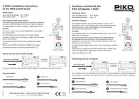 Piko H0 55261 Switching panel 55261 Data Sheet
