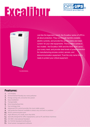 OPTI-UPS EL3000 Leaflet