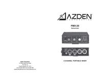Azden FMX-20 User Manual