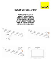 Logic3 Wii Wireless Sensor Bar NW859 Leaflet