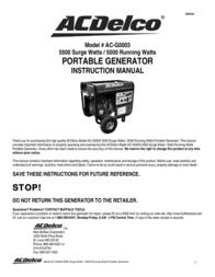 ACDelco AC-G0003 User Manual