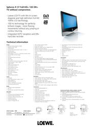 LOEWE Spheros R 37 Full-HD+ 100 DR+ 67429M48 Leaflet