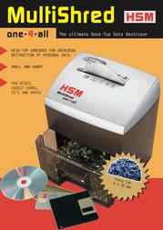 HSM MultiShred one-4-all 1001 Leaflet