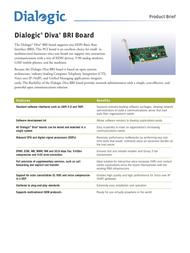 Dialogic Diva Server BRI-2M, PCI 306-162 Leaflet