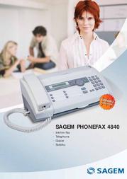 Sagem PHONEFAX 4840 PSF544/NLB Leaflet