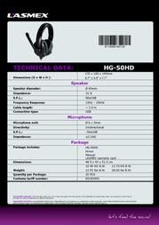 Lasmex HG-50HD Data Sheet