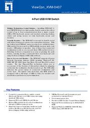 LevelOne 4-Port USB KVMwith USB HUB KVM-0407 Leaflet