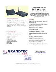 GrandTec Ultimate Wireless GWB-4000 Leaflet