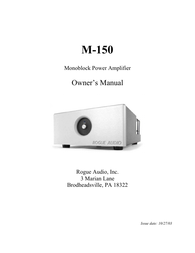 Rogue Audio M-150 User Manual