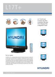 Hyundai L17T+ L17T+ TV Leaflet