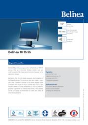 "Belinea 15"" TFT Monitor 101555 Leaflet"