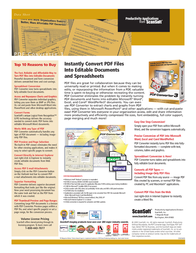 Nuance PDF Converter 3.0, French, Retail B309F-W00-3.0 Data Sheet