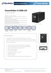 BlueWalker PowerWalker VI 2000 LCD 310065 Leaflet