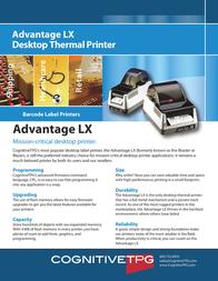 Cognitive TPG Advantage LX LBD24-2043-014 Leaflet
