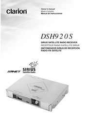 Clarion DSH920S User Manual