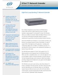 Zhone T1 Network Extender TNE1584-KIT-DC Leaflet