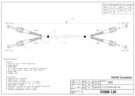 Videk 9/125 OS1 ST to ST Duplex Fibre Optic Cable 1Mtr 3605-1 Leaflet