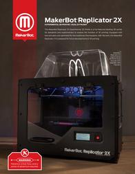 MakerBot Replicator 2X REPLICATOR2X Leaflet