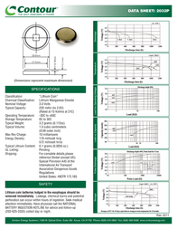Contour Energy Systems CR2032 EU2032-2 Leaflet