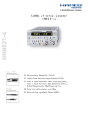 Hameg HM 8021-4Frequency counters0 - 150 MHz 24-8021-0400 Data Sheet