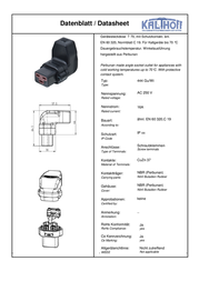 Kalthoff IEC connector C19 Socket, right angle Total number of pins: 2 + PE 16 A Black 1 pc(s) 444006 Data Sheet
