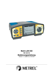 Metrel MI 2016 PS Test leads measurement device, Cable and lead finder, 300 m 20990898 User Manual