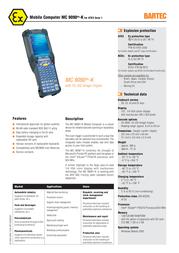 Bartec MC 9090ex-K 17-A119-0KK0HCEFA600 Leaflet