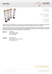 Vicoustic Flexi Glue B00172 Leaflet