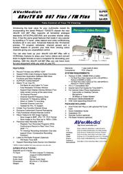 AVerMedia AVerTV GO 007 Plus/FM Plus VGAV1000 Leaflet