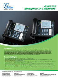 Grandstream Networks GXP2120 GXP-2120 Leaflet