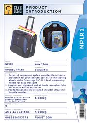 "Case Logic Rolling ""Ultra Protection"" Laptop Trolley Case NPLR1 Leaflet"