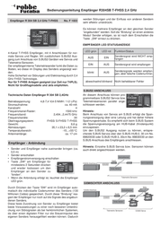 Futaba R304SB F1022 Data Sheet
